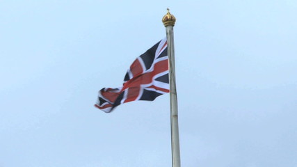 Union Jack Flag on top of Buckingham Palace, United Kingdom London