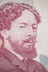 Portrait from a hundred francs banknote