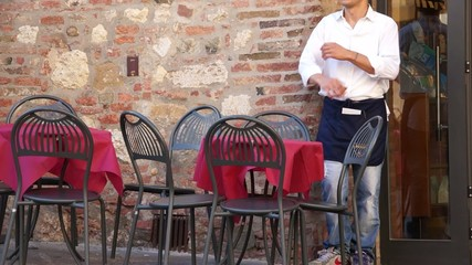 Scenes of People Eating in Italy.