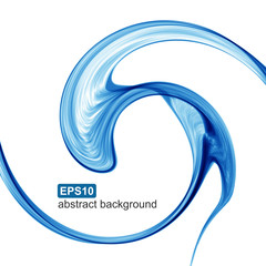 Abstract blue wave futuristic background. Vector illustration.