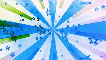 Animated Retro Textured Stars Looping Background