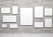 Leinwandbild Motiv Empty frames in show room