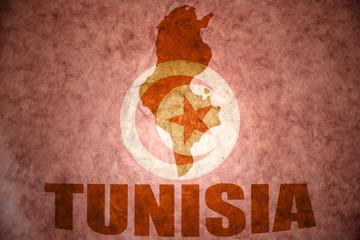 tunisia vintage map