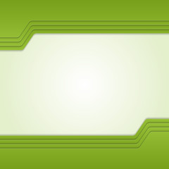 Green background with custom text.