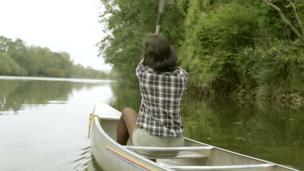 Couple enjoying boating