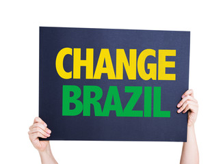 Change Brazil card isolated on white