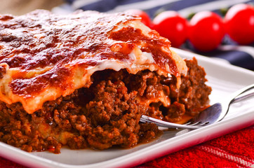 Fresh home cooked lasagna