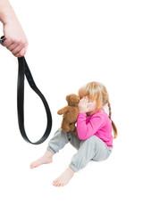 Man beats child