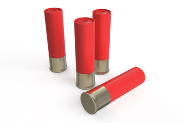 shotgun shells, red
