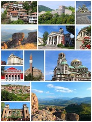 Bulgaria places - travel collage