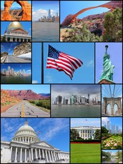 USA photos - travel collage