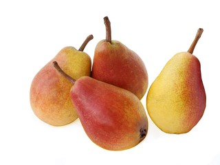 red and yellow sweet pears