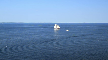 Ocean View Sail Boat in Maine USA