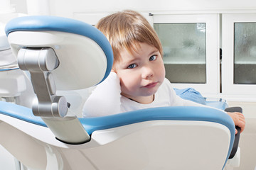 sweet girl in the dentist's chair