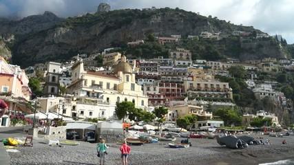 Scenes of the Italian coastal town Positano.