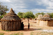 Leinwanddruck Bild - Himba village near the Etosha National Park in Namibia