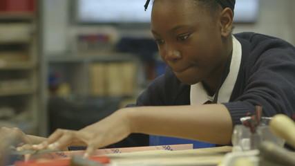 School children practising