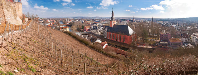 Blick auf Bad Kreuznach von der Kauzenburg
