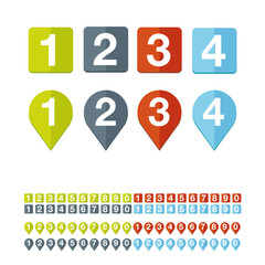 Number set vector flat design