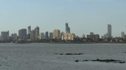 Zoom out on Marina drive Mumbai India