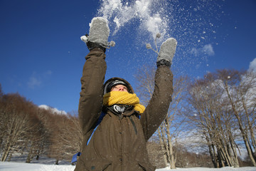 giocare con la neve