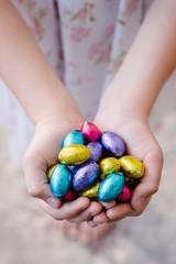 easter egg in hands