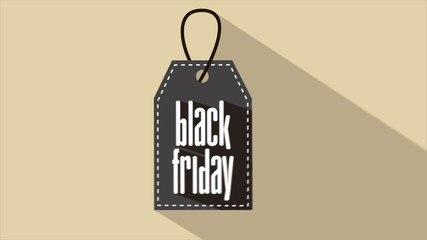 Black friday label Video animation, HD 1080