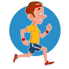 man runs