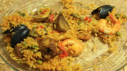 Paella Dish Eaten Time Lapse