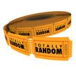 Totally Random Unpredictible Choice Picking Blind Raffle Ticket