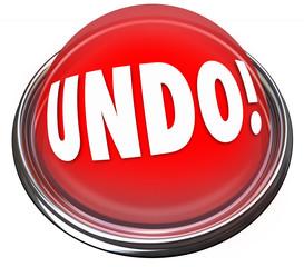 Undo Red Button Correct Fix Go Back Revise Mistake Error