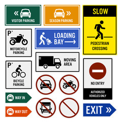 Parking Area Compound Signs Signboards