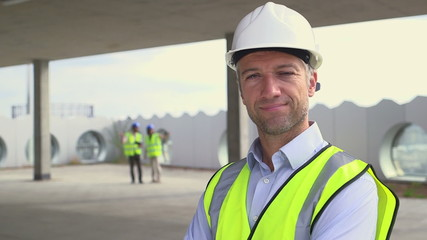 Portrait of architect man