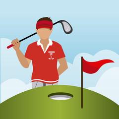 Golf design, vector illustration.