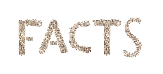 Facts written with small cubes