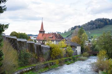 Canal in Appenzell, Switzerland.