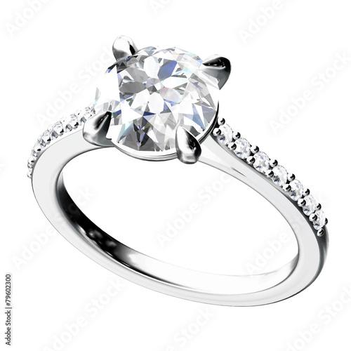 The beauty diamond ring.Vector illustration. - 79602300