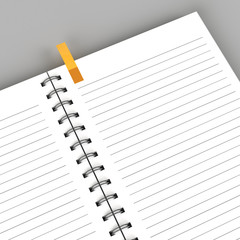Blank notebook isolated
