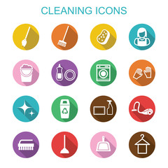 cleaning long shadow icons