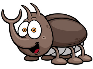 Vector illustration of cartoon bug