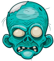 Vector illustration of Cartoon zombie face