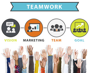 Team Vision Marketing Goal Corporate Teamwork Concept