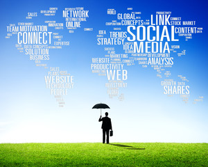 Social Media Internet Connection Global Communications Concept