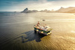 Oil drilling rig against panorama of Rio De Janeiro, Brazil - 79604733