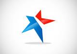 star pride abstract vector logo poster