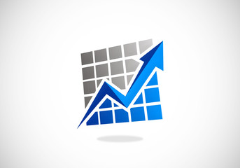 stock exchange arrow finance business vector logo