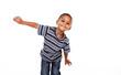 Cute african child in studio. - 79606519