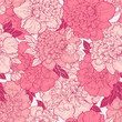 Seamless  background with peonies