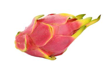 Dragon fruit or pitaya isolated white background.