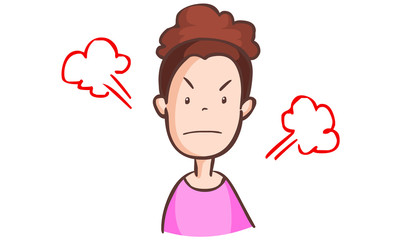 woman angry very much illustration vector